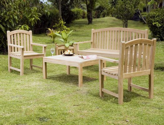 Teak wood garden furniture set