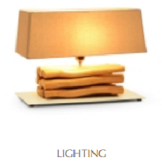 decorative lighting in furniture for hotel