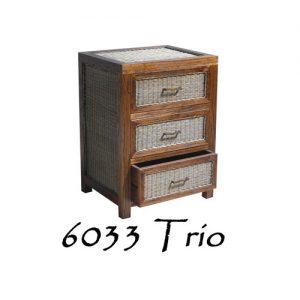 trio drawer rattan furniture