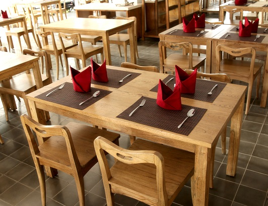 restaurant furniture manufacture, chairs, bar stools, and table